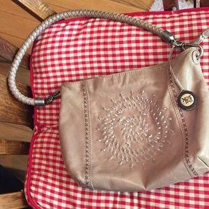 The Sak Taupe leather shoulder bag